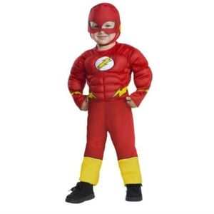 NWT Flash Costume 2T/3T Toddler Mask Jumpsuit Hero